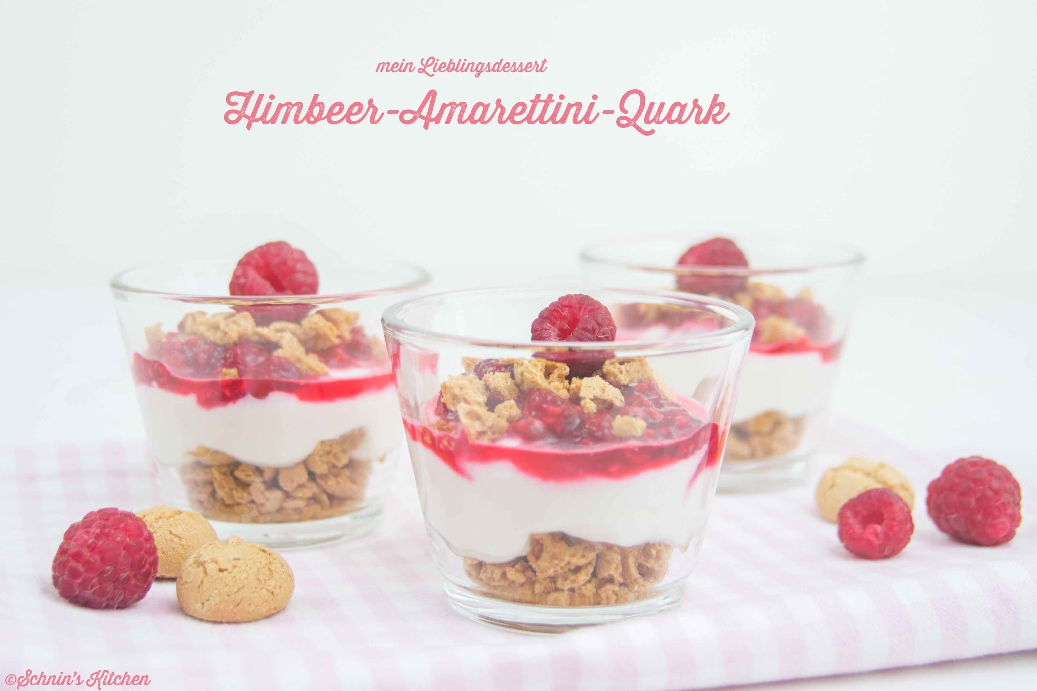 Schnin's Kitchen: Himbeer-Amarettini-Quark - mein Lieblingsdessert