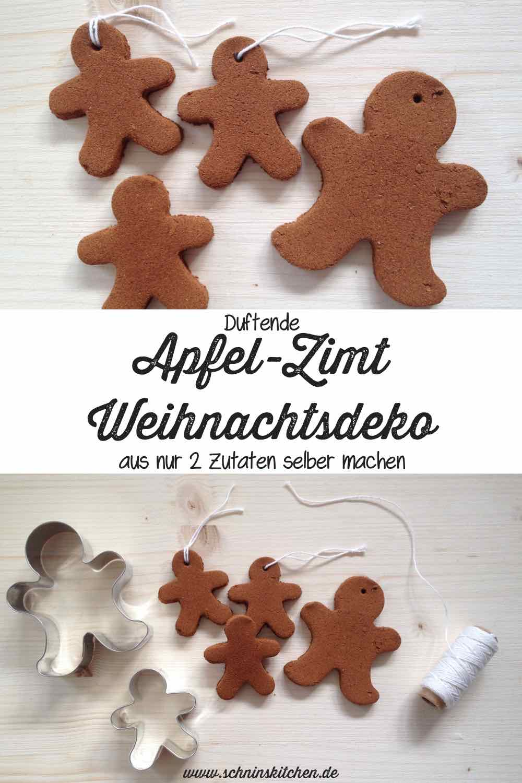 Duftende Apfel-Zimt-Weihnachtsdeko aus 2 Zutaten selber machen   www.schninskitchen.de