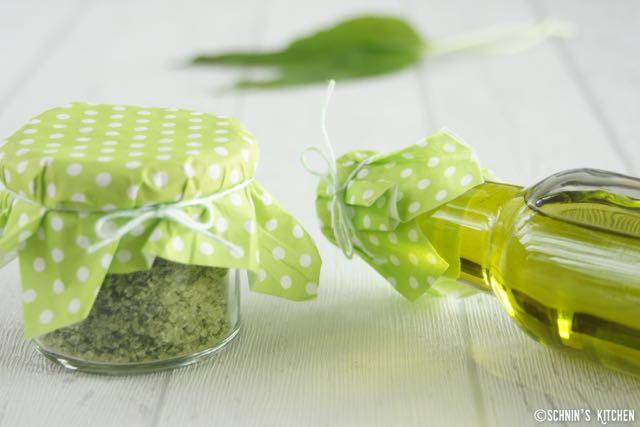 Schnin's Kitchen: Frühling im Paket: Bärlauch-Öl & Bärlauch-Salz