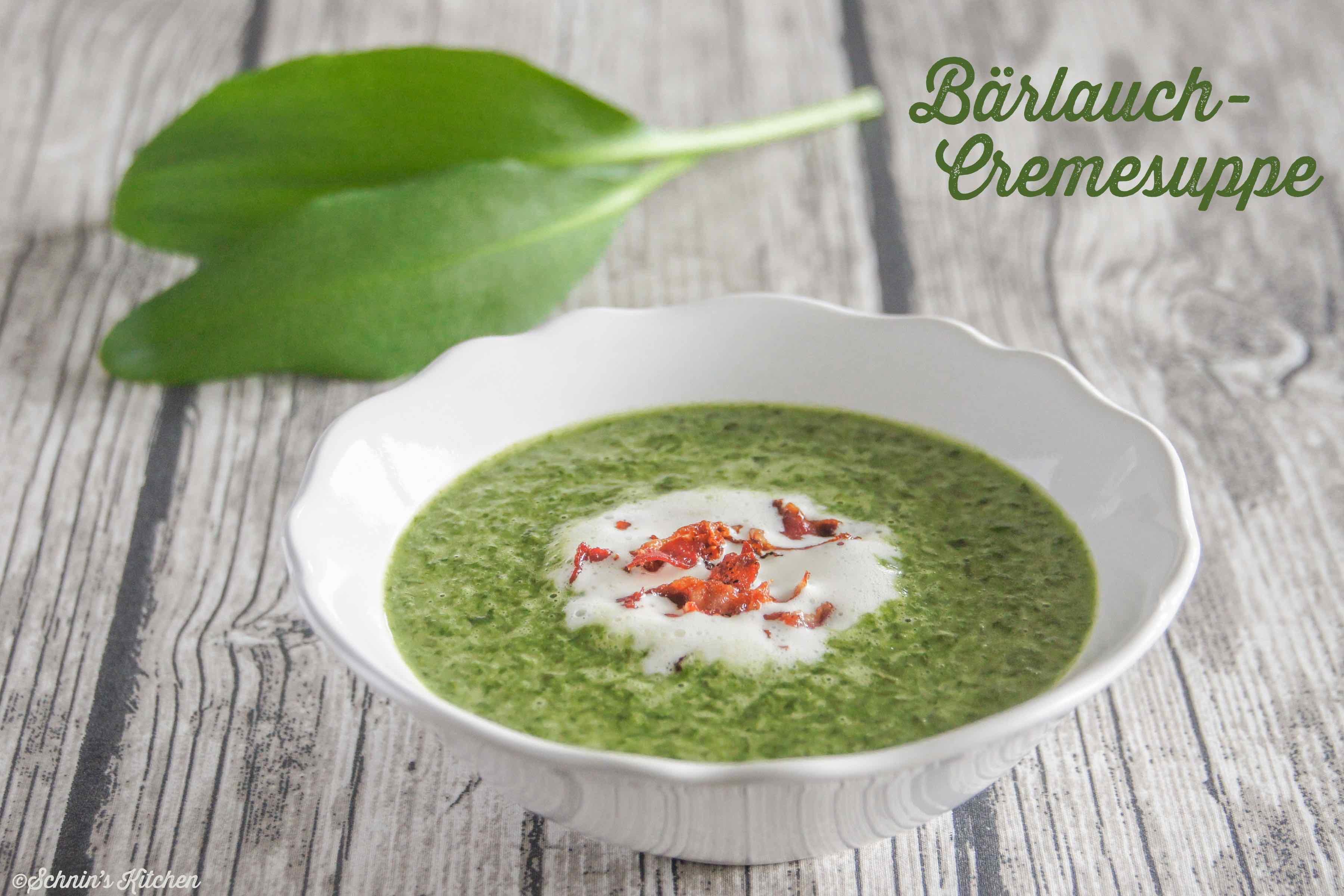 Bärlauch-Cremesuppe mit Bacon