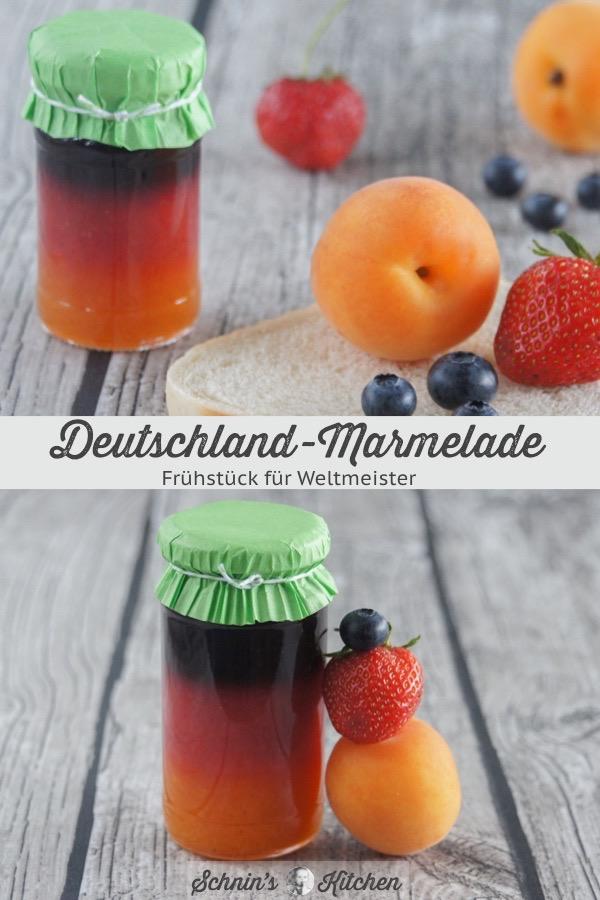 Deutschland-Marmelade für die WM in Deutschlandfarben | www.schninskitchen.de