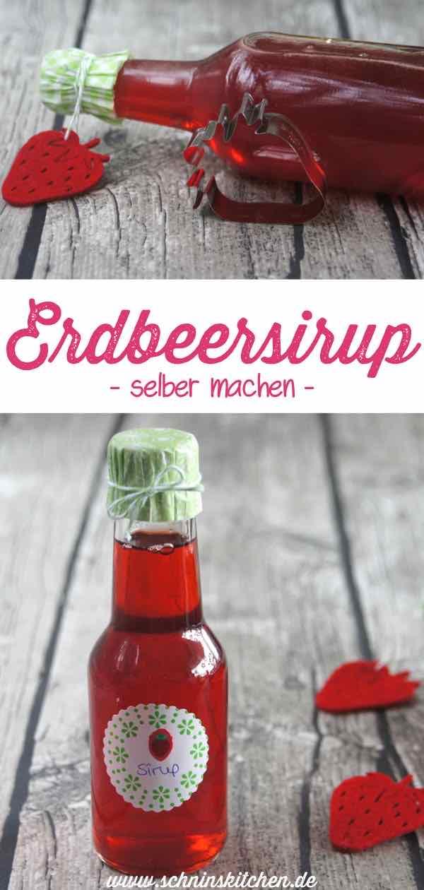 Leckeren Erdbeersirup einfach selber machen - ein einfaches Rezept für leckere Sommergetränke aus frischen Erdbeeren, schnell gekocht | www.schninskitchen.de