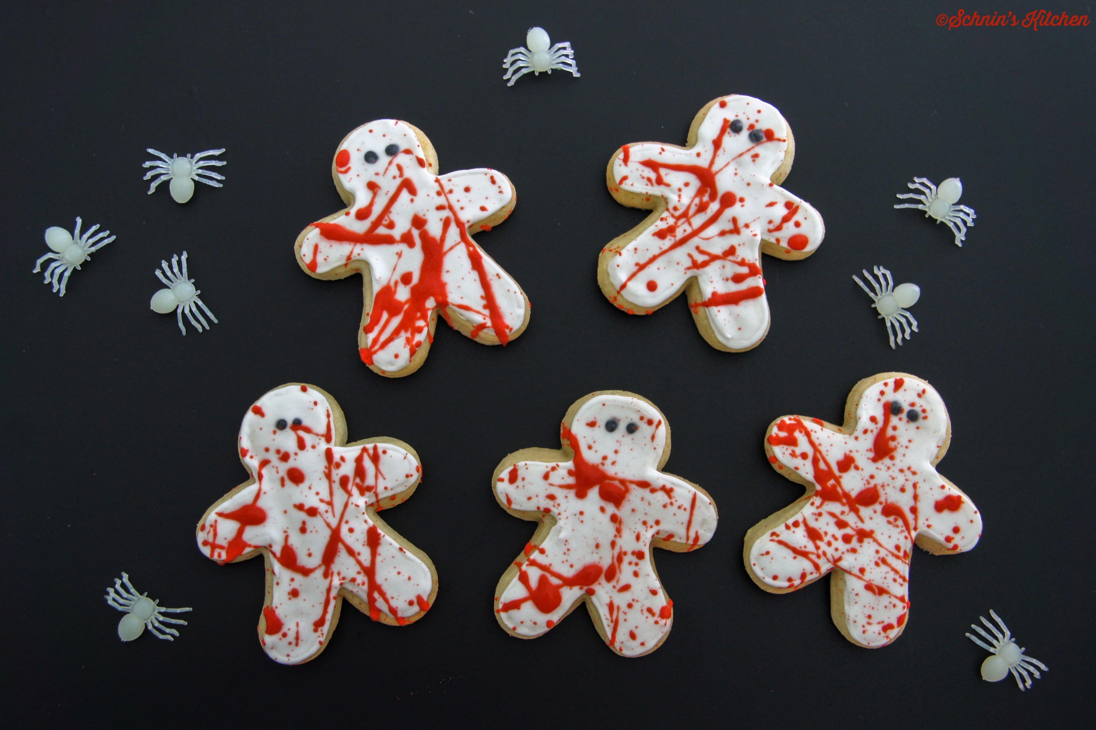 Blutige, schaurig-schöne Halloween-Cookies mit Royal Icing - www.schninskitchen.de