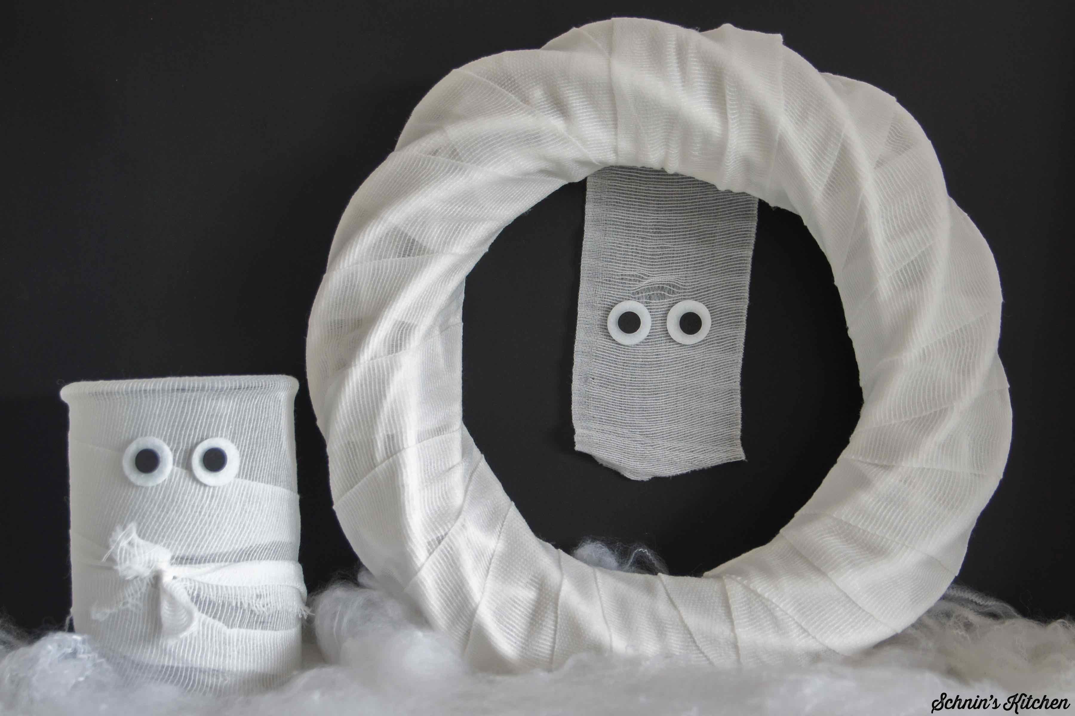 Mumien-Türkranz Halloween Deko DIY | www.schninskitchen.de