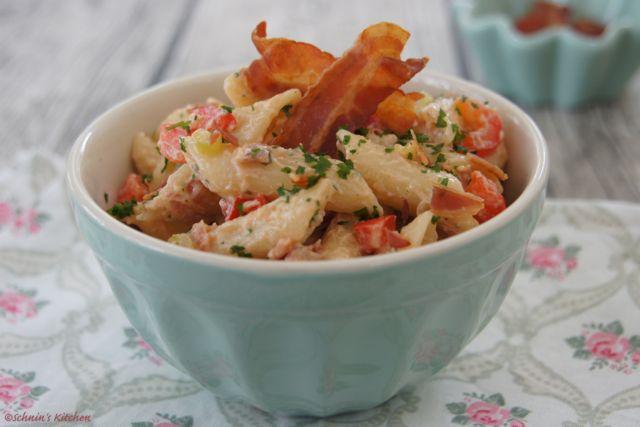 Schnin's Kitchen: Barbecue-Pastasalat mit krossem Ofen-Bacon