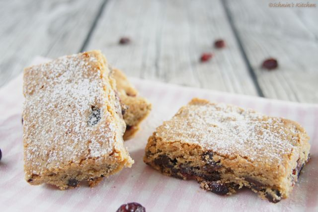 Schnin's Kitchen: Cranberry Chocolate Chip Blondies
