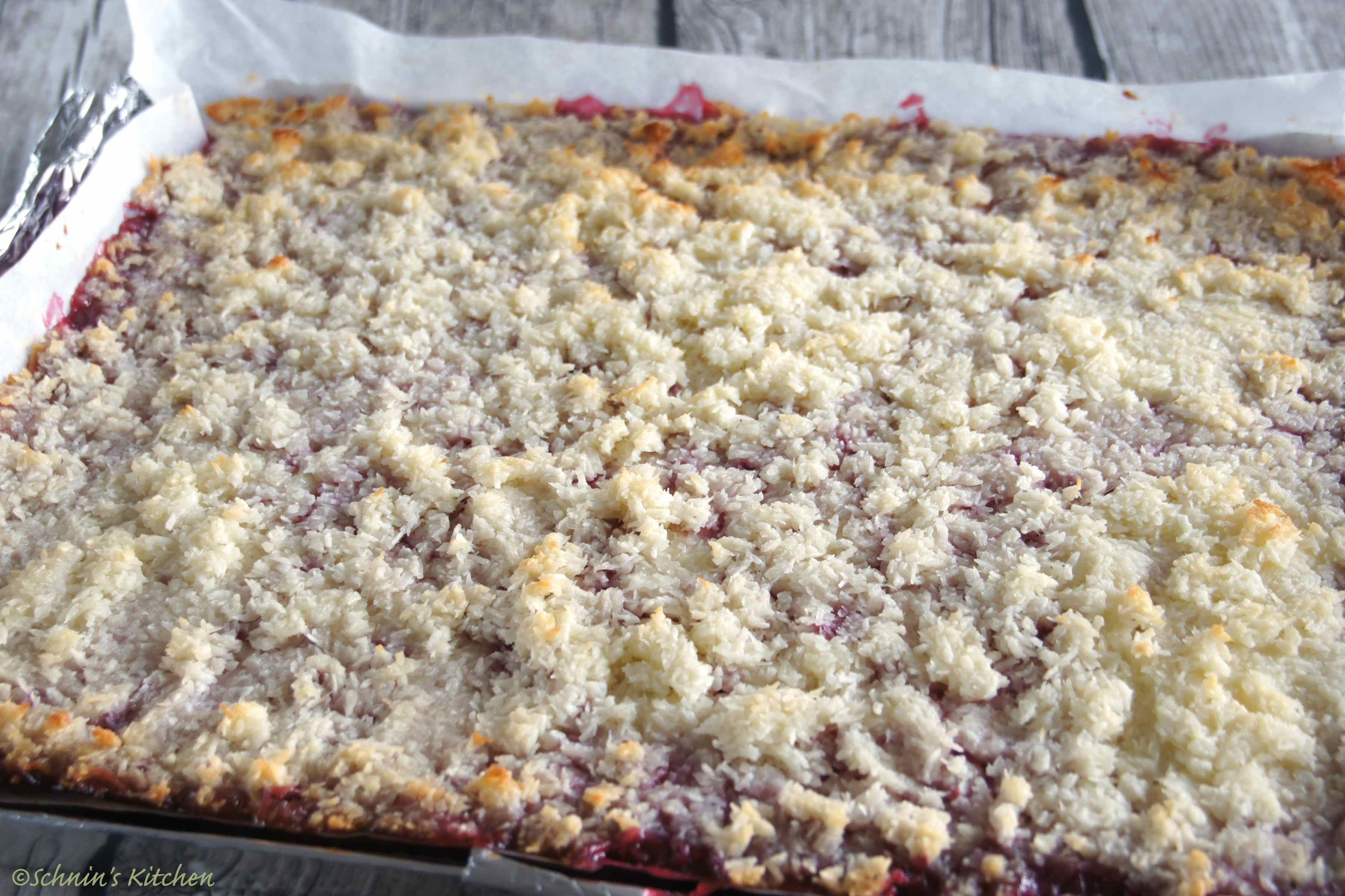Himbeer Kokos Kuchen Vom Blech Schnin S Kitchen