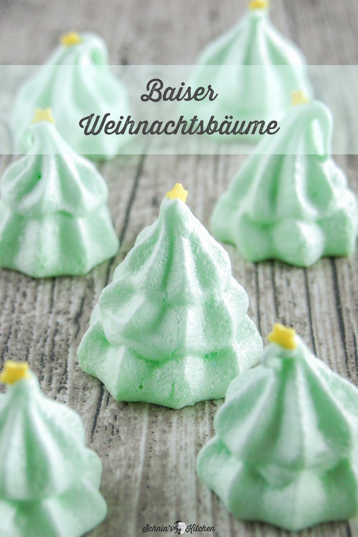 Baiser-Weihnachtsbäumchen | www.schninskitchen.de