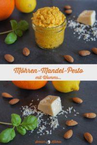 Leckeres Möhren-Mandel-Pesto mit Wummms: Pesto mit Möhren, Orange, Mandeln, Parmesan und einem Hauch Chili - toll zu Pasta | www.schninskitchen.de