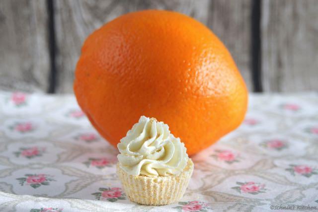 Orangen-Bade-Cupcakes