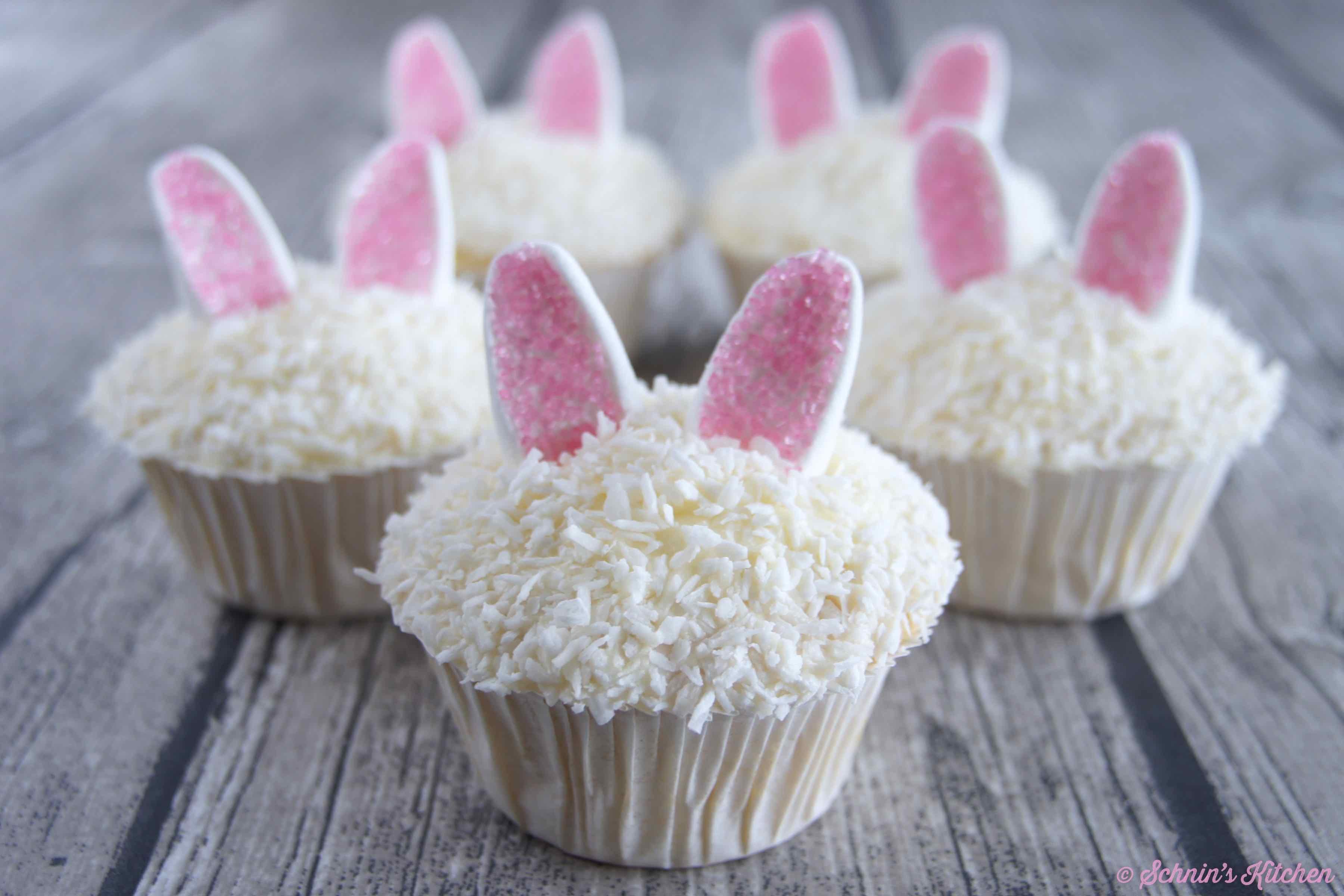 Osterhasen-Kokos-Cupcakes