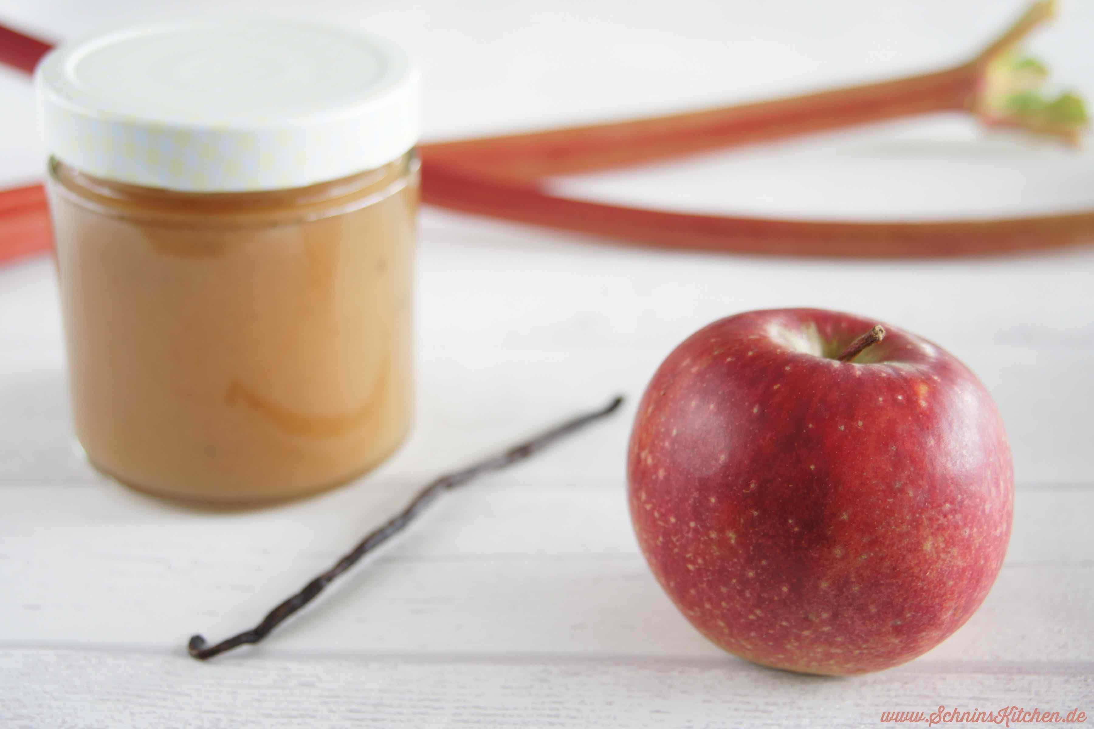 Schnin's Kitchen: Apfel-Rhabarber-Marmelade mit Vanille