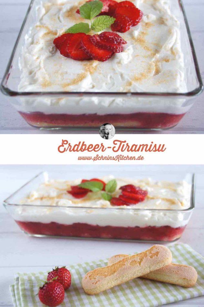 Leichtes Erdbeer-Tiramisu | www.schninskitchen.de