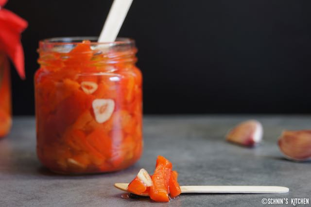 Schnin's Kitchen: Geröstete Paprika in Öl