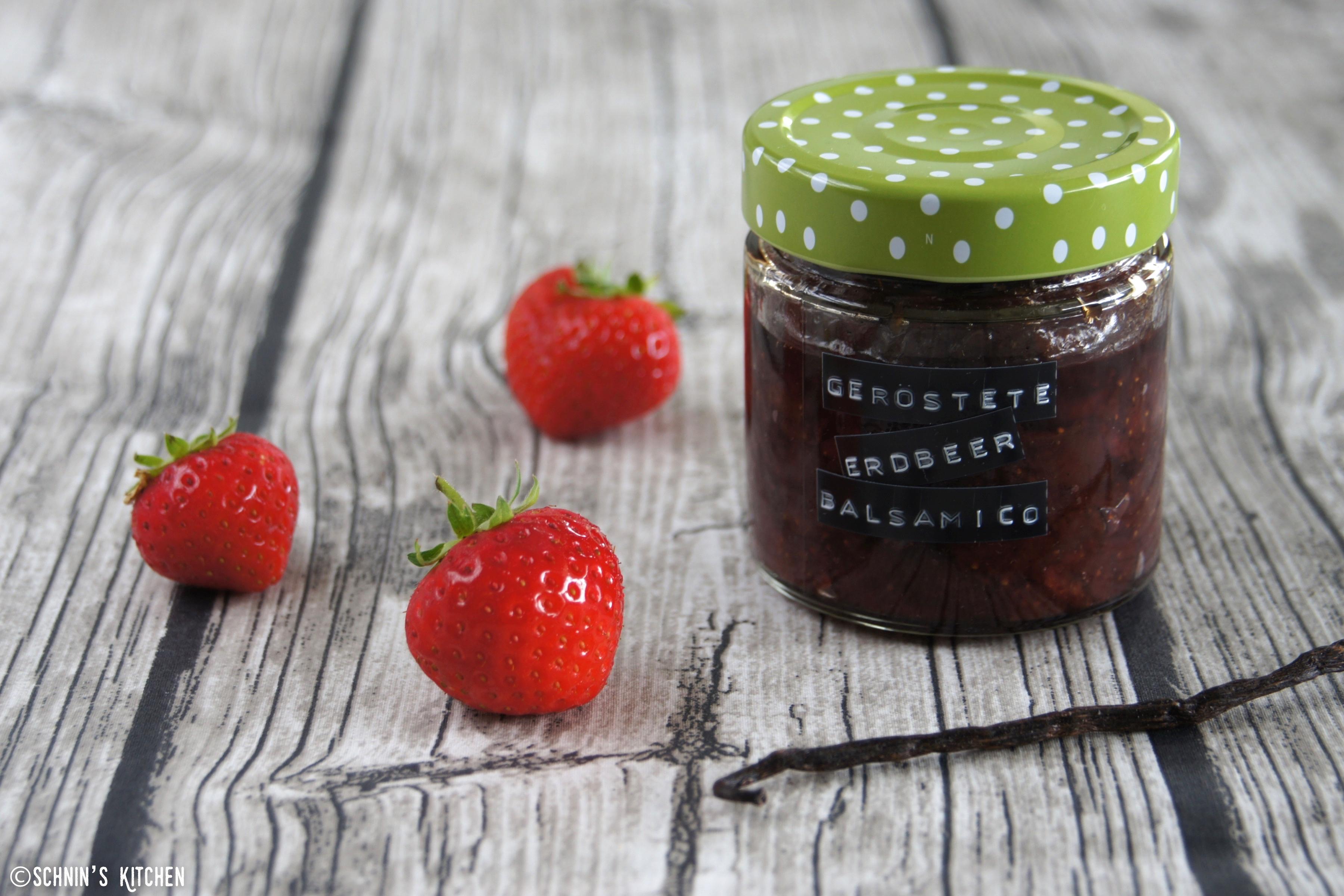 Schnin's Kitchen: Geröstete Erdbeer-Balsamico-Marmelade