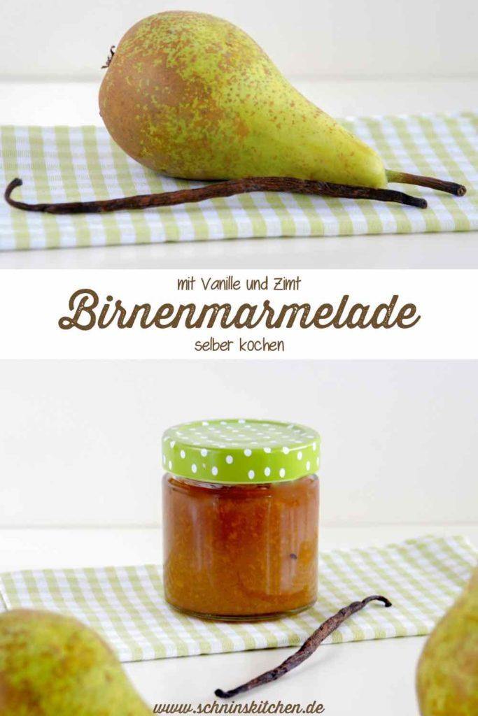 Birnenmarmelade mit Vanille und Zimt | www.schninskitchen.de