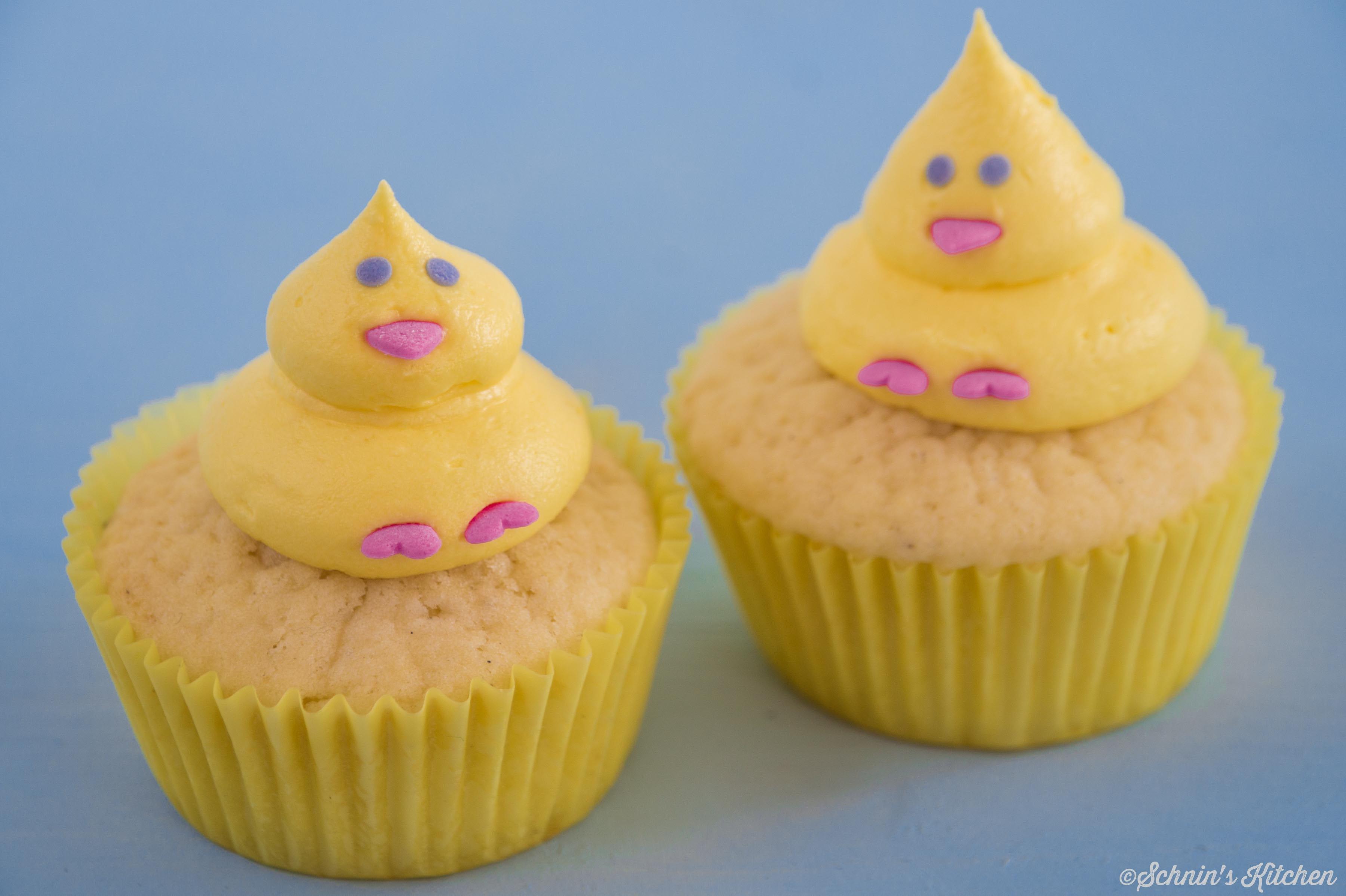 Schnin's Kitchen: Küken-Cupcakes