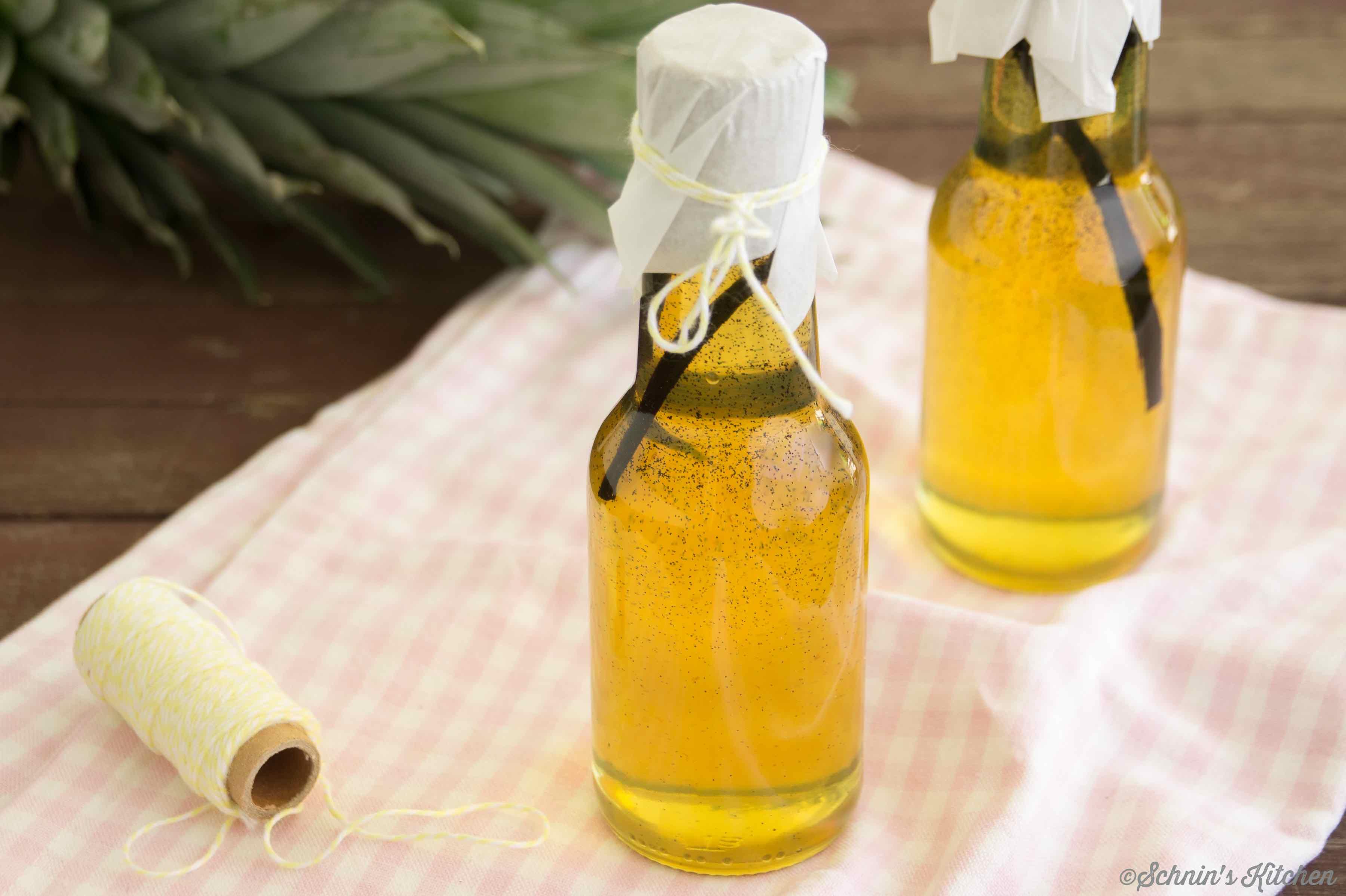 Schnin's Kitchen: Ananassirup mit frischer Vanille