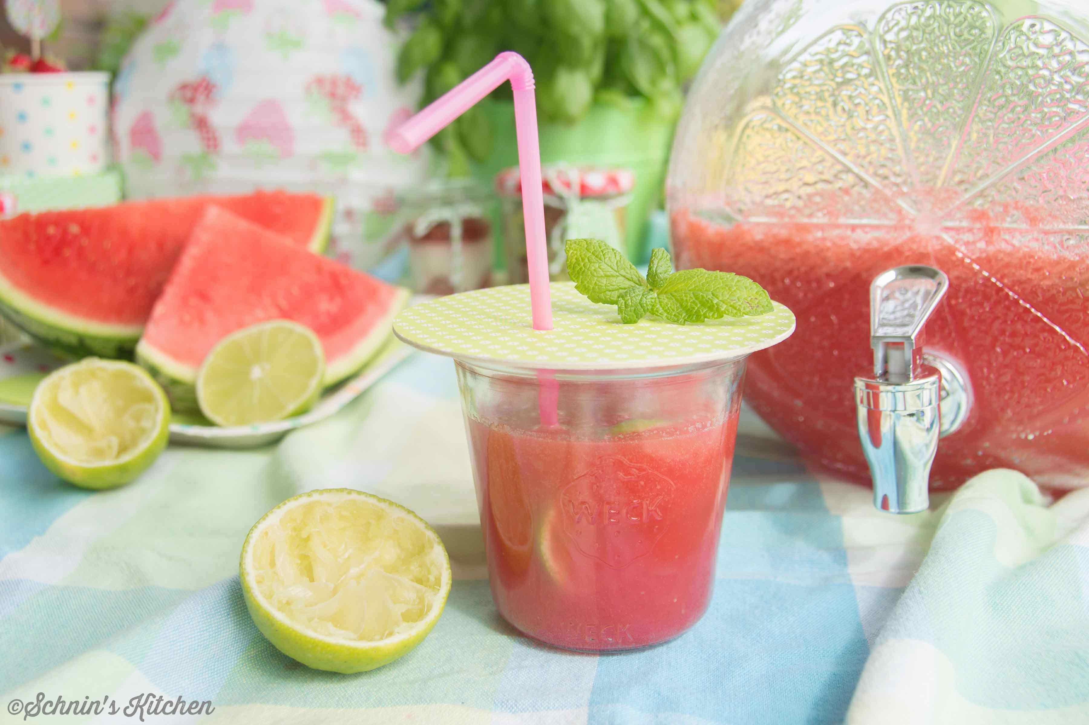 Schnin's Kitchen: Wassermelonen-Limonade mit Minze
