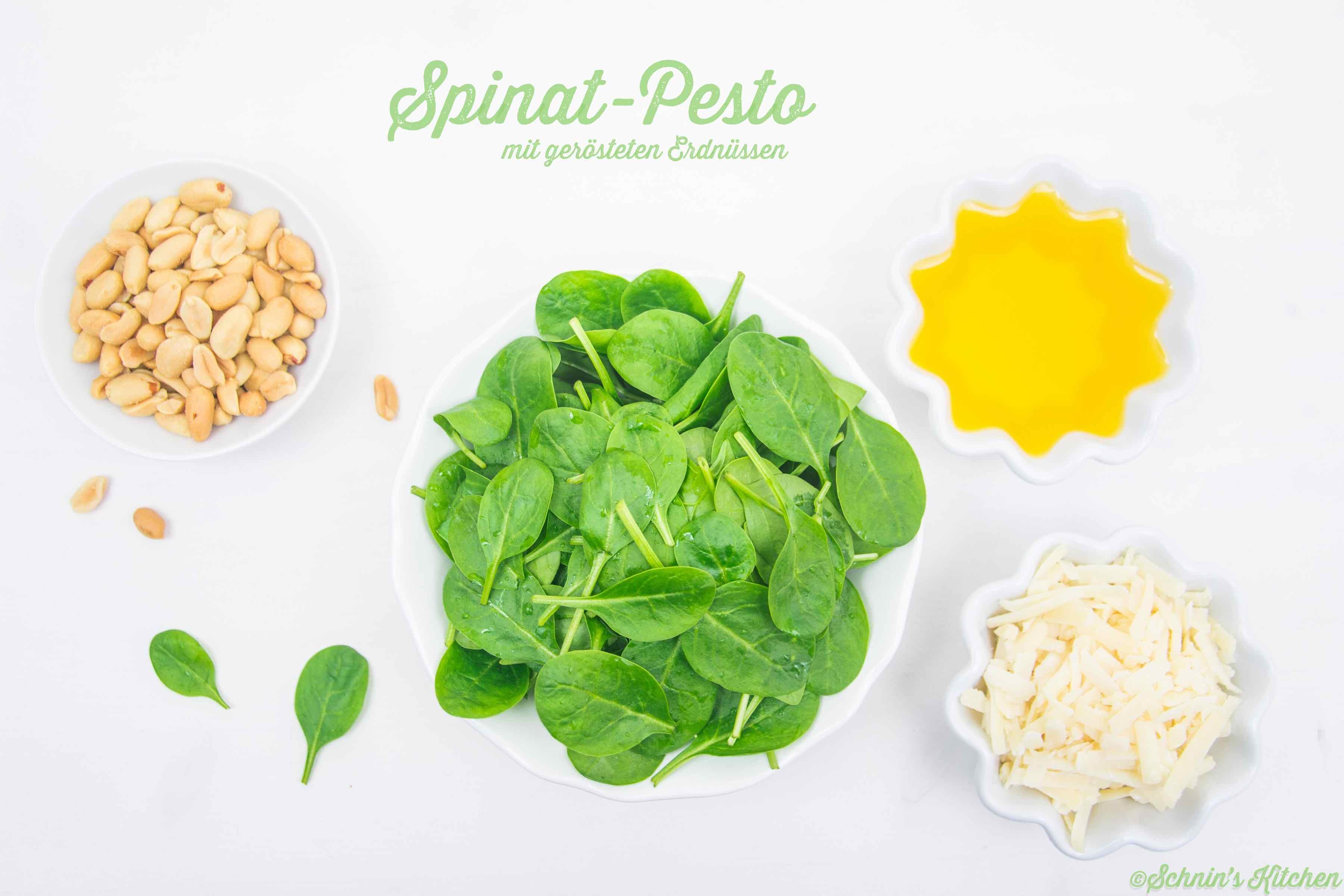 Schnin's Kitchen: Spinat-Pesto mit gerösteten Erdnüssen