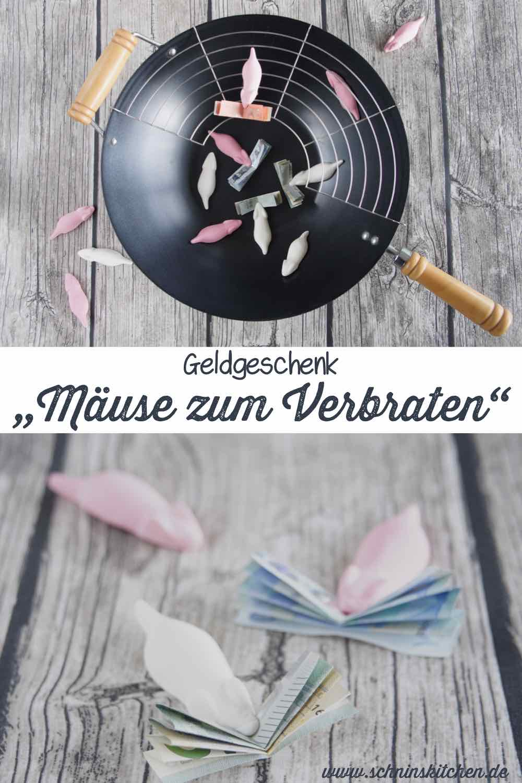 Geldgeschenk basteln: ein paar Mäuse zum Verbraten - ein Geldgeschenk kreativ verpacken | www.schninskitchen.de