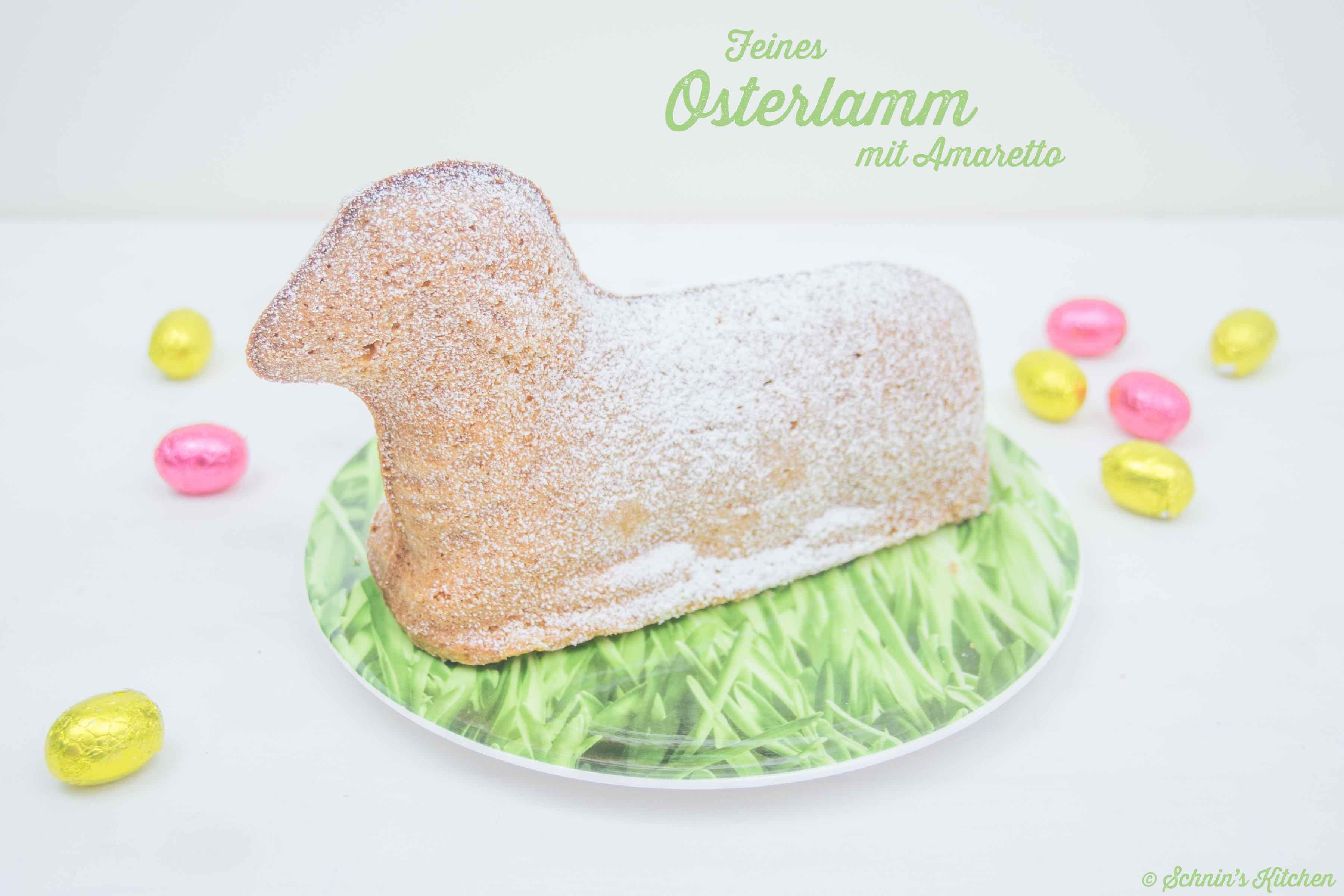 Schnin's Kitchen: Osterlamm mit Amaretto aus feinem Sandkuchenteig