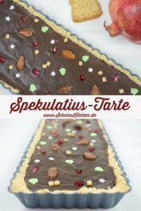 Weihnachtliche Spekulatius-Tarte mit gebrannten Mandeln | www.SchninsKitchen.de