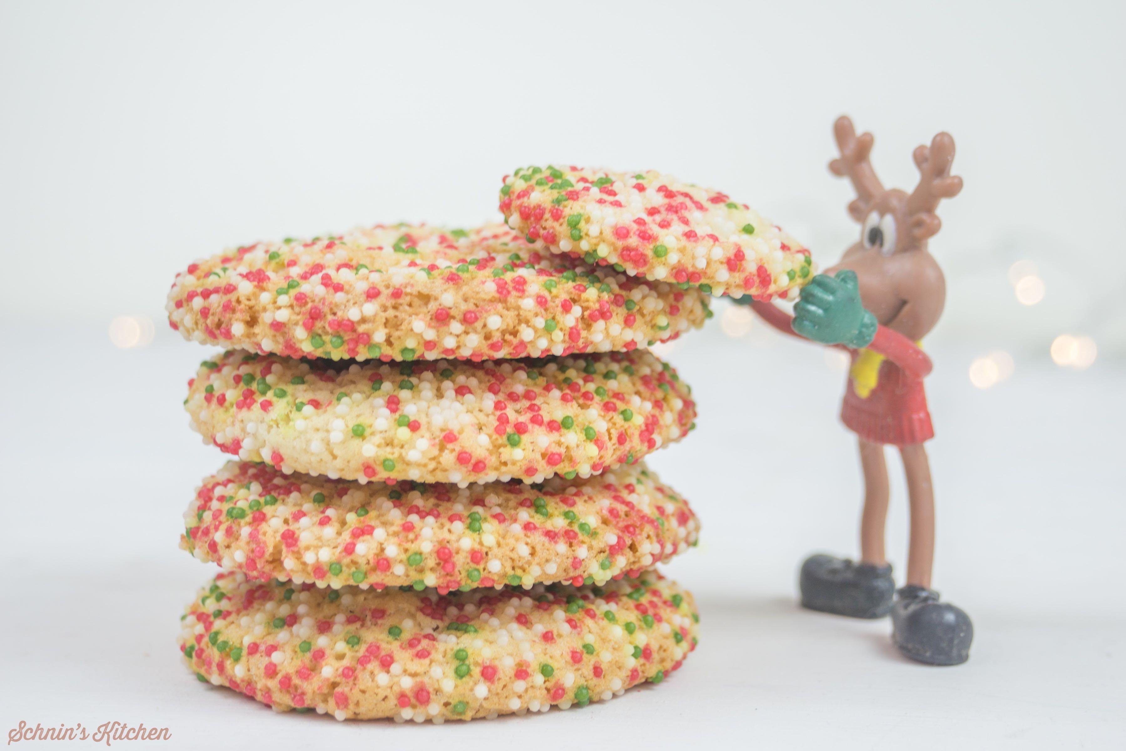 Weihnachts-Cookies mit Zuckerperlen | www.schninskitchen.de