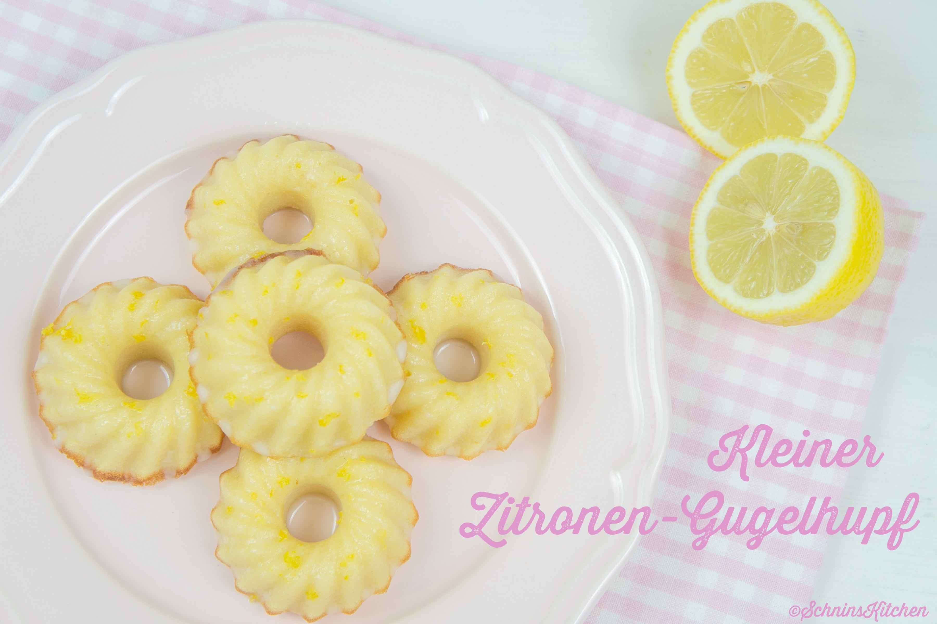 Kleine Zitronen-Gugelhupfe - kleine, feine Kuchen mit Zitrone und Glasur   www.schninskitchen.de