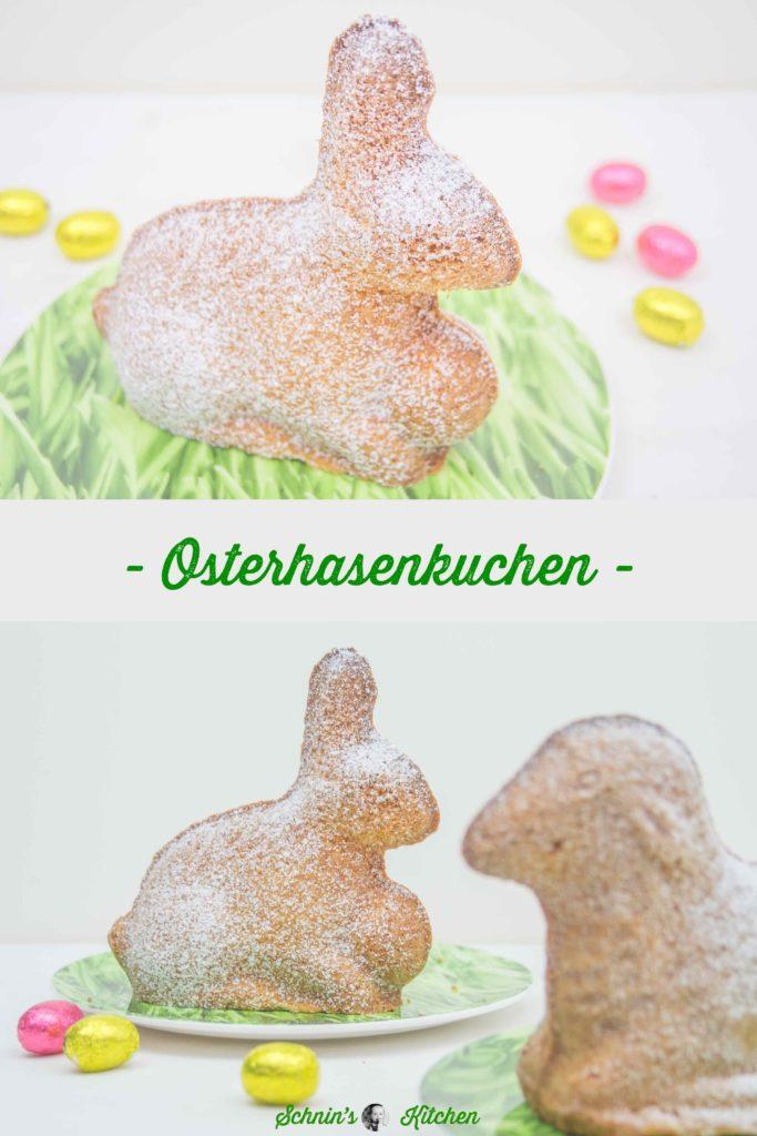 Osterhasenkuchen aus feinem Sandkuchenteig mit Amaretto. Das perfekte Rezept zu Ostern für die Osterhasen-Backform.   www.schninskitchen.de