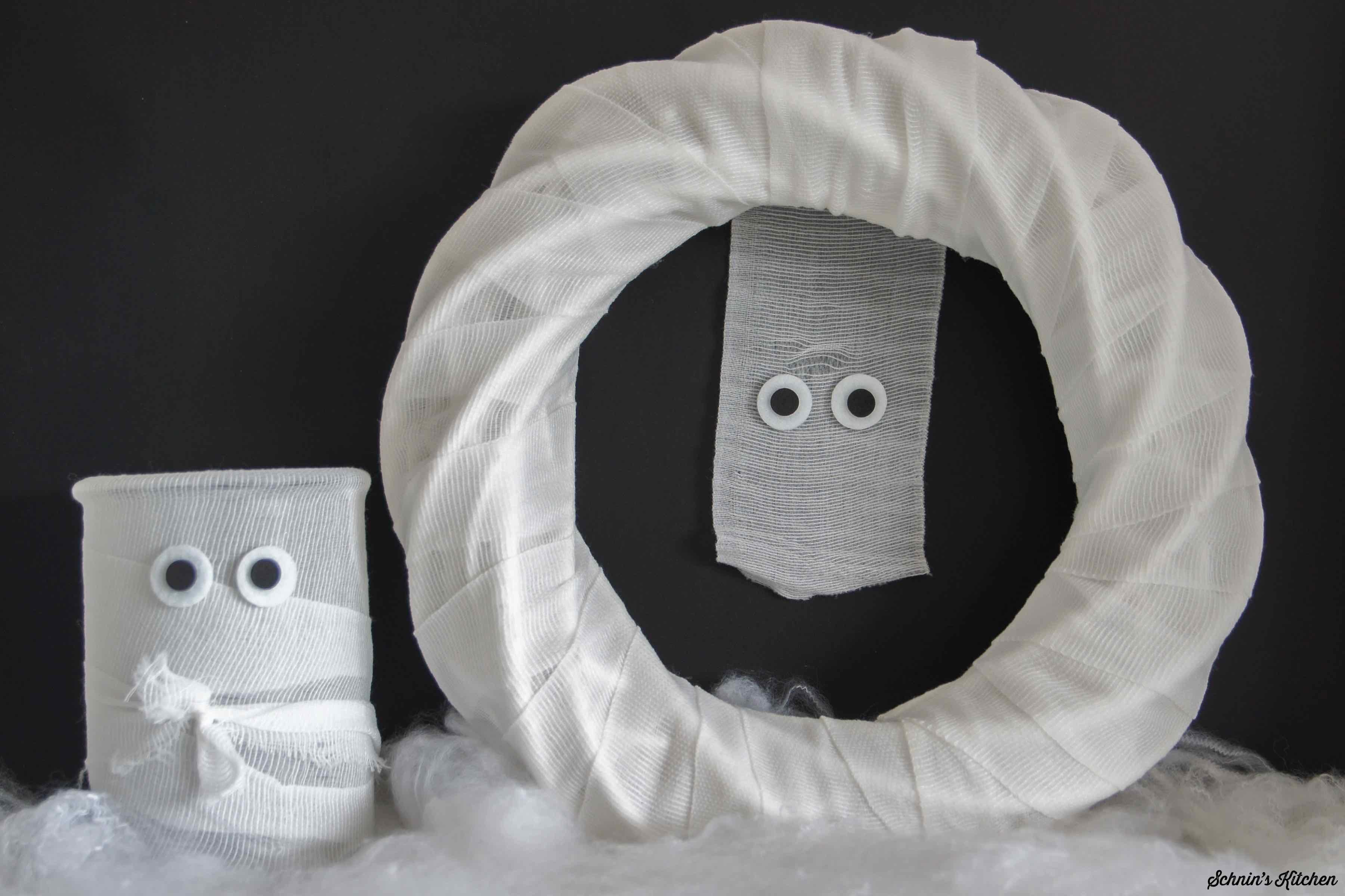 Mumien-Windlicht Halloween Deko DIY   www.schninskitchen.de