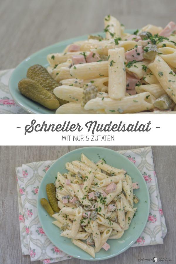 Schneller Nudelsalat mit nur 5 Zutaten. Unkompliziert und lecker. | www.schninskitchen.de
