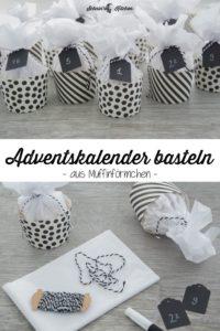 Adventskalender basteln aus Muffinförmchen | www.schninskitchen.de