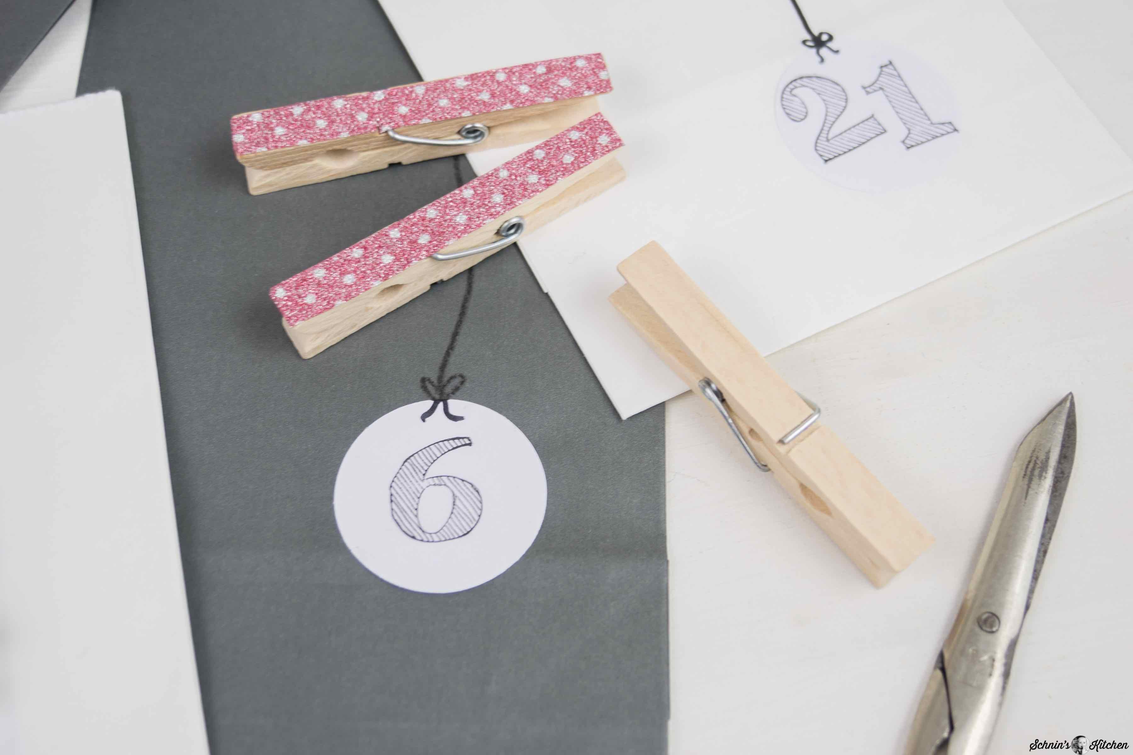 Relativ Adventskalender basteln mit Papiertüten - Schnin's Kitchen QU25