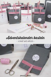 DIY Adventskalender basteln aus Papiertüten, Klebeband und Wäscheklammern | www.schninskitchen.de