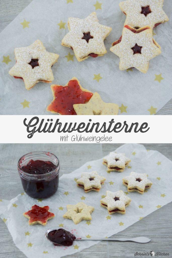Glühweinsterne mit Glühweingelee gefüllt | www.schninskitchen.de