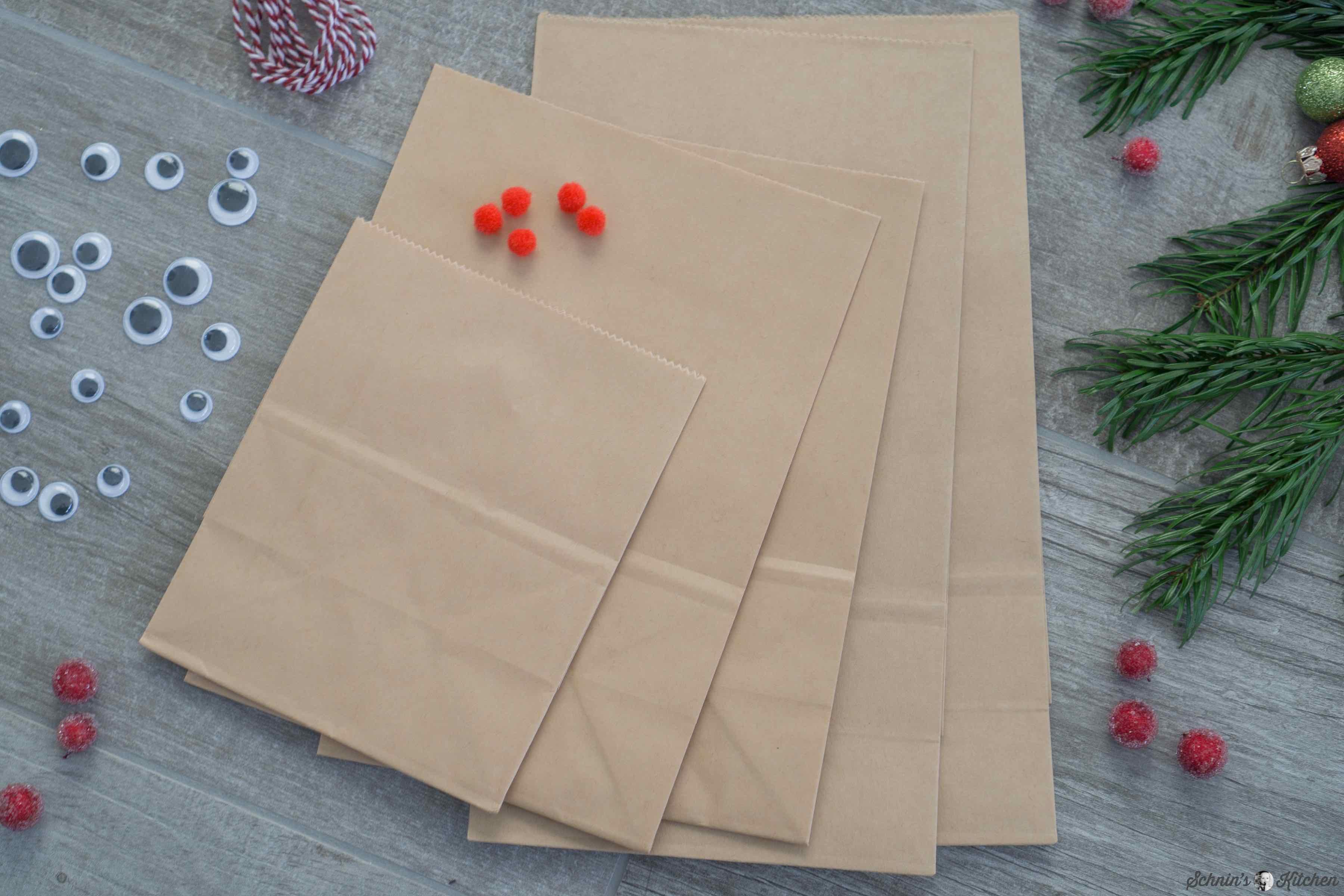 Rentier-Geschenktüten basteln zum Geschenke verpacken | www.schninskitchen.de