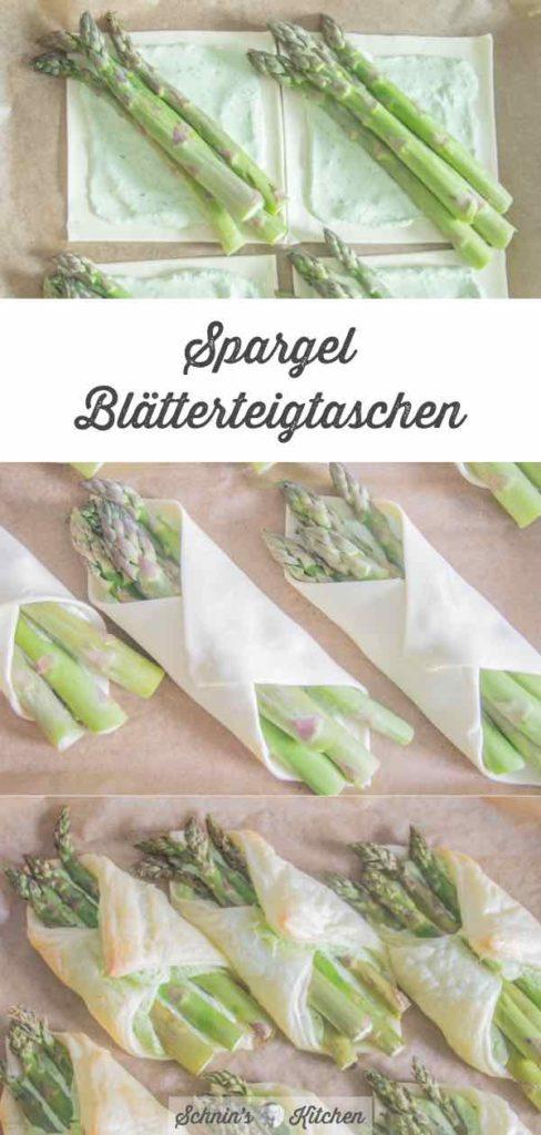 Knusprige Spargel-Blätterteigtaschen | www.schninskitchen.de